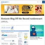 Horizont: BlogOff-the-Record runderneuert